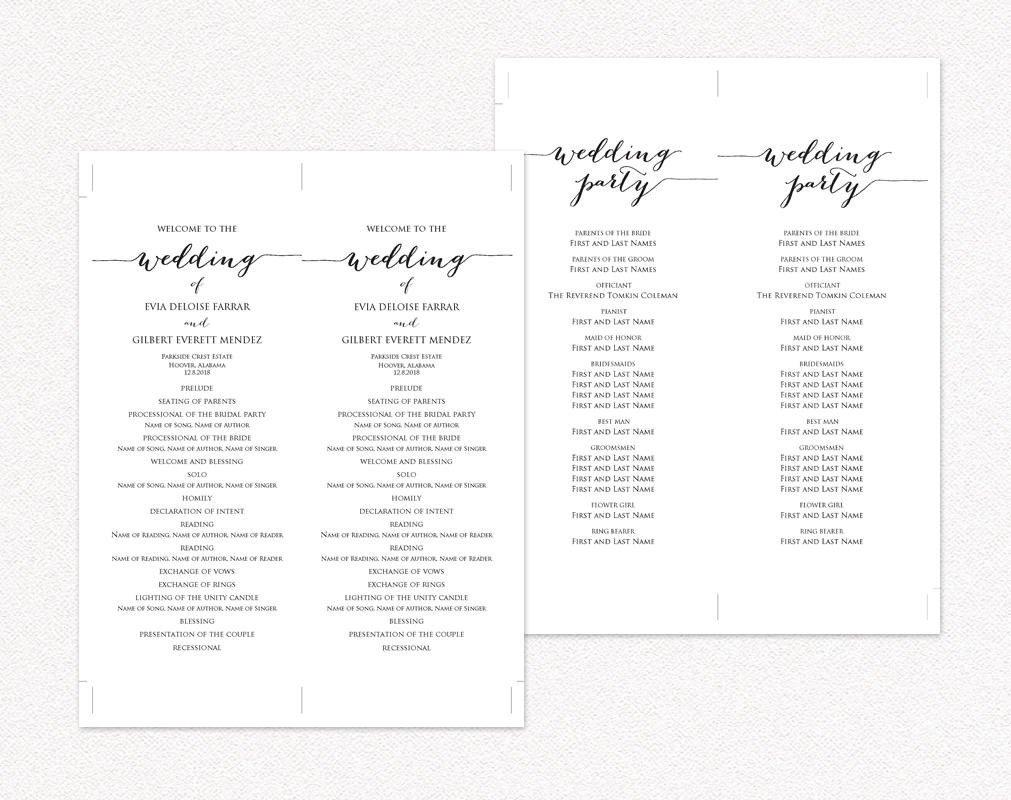 Templates for Wedding Programs Wedding Ceremony Program Templates · Wedding Templates and