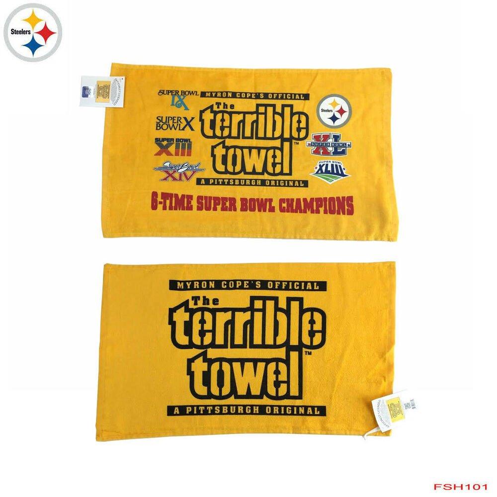 Terrible towel Pictures Nwt the original Pittsburgh Steelers Terrible towel Myron