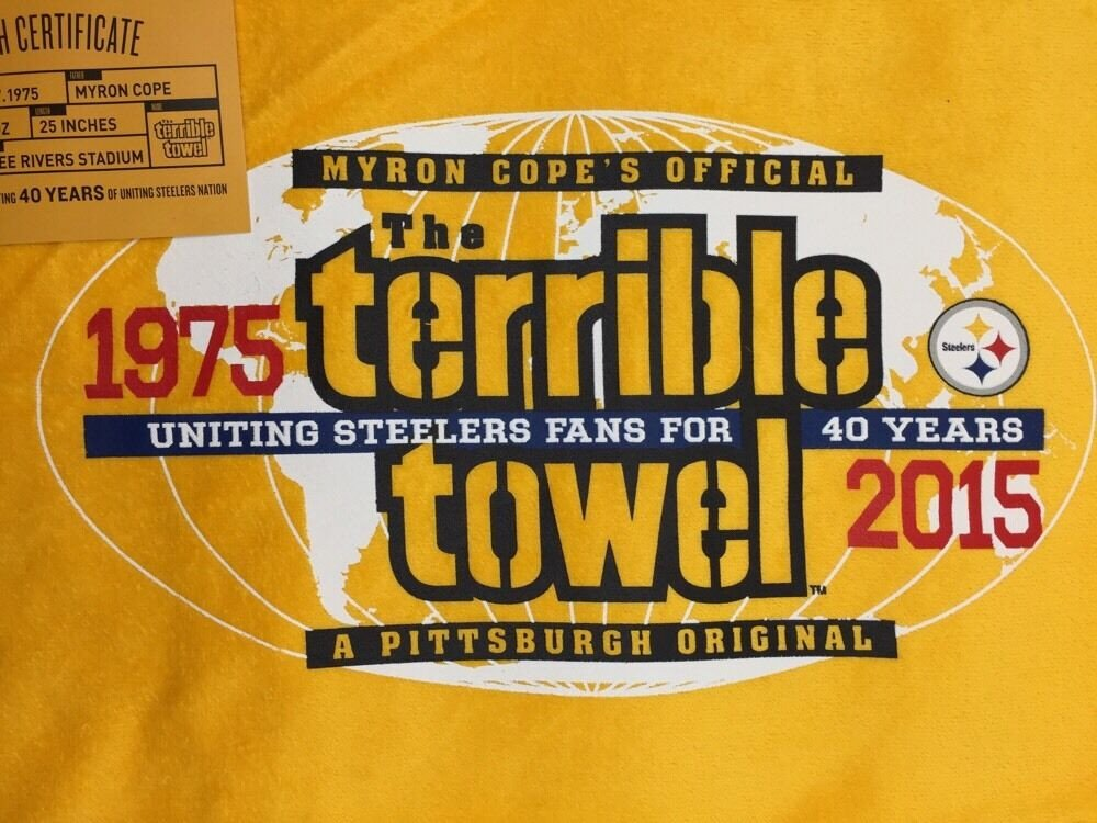 Terrible towel Pictures Pittsburgh Steelers 40th Anniversary Terrible towel New