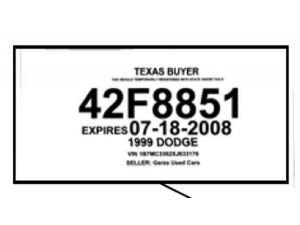 Texas Temporary Paper Id Fake Image Result for Texas Temporary Id Template