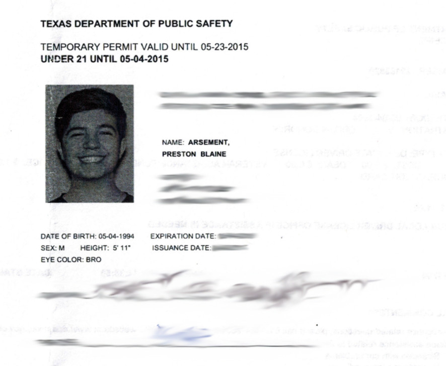 "Texas Temporary Paper Id Fake Preston🔥☕️ On Twitter ""wooo I Am now Officially A Texan"