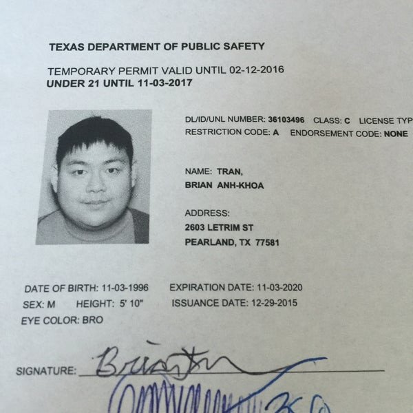 Texas Temporary Paper Id Fake S at Texas Department Public Safety southbelt