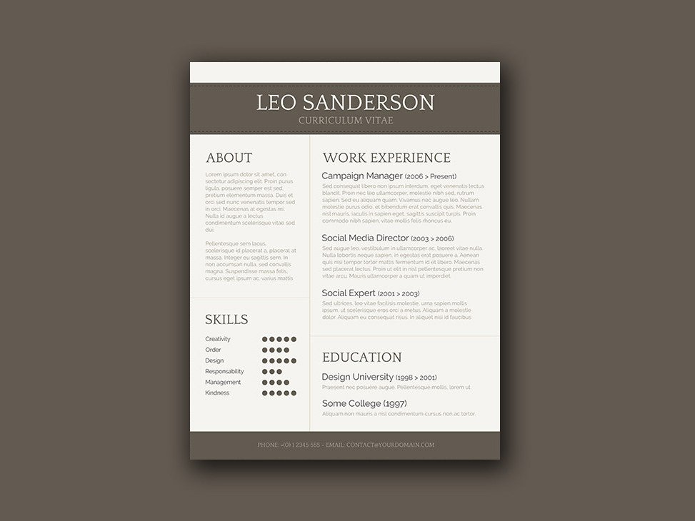 Textedit Resume Template Free Conservative Cv Template with Creative Design