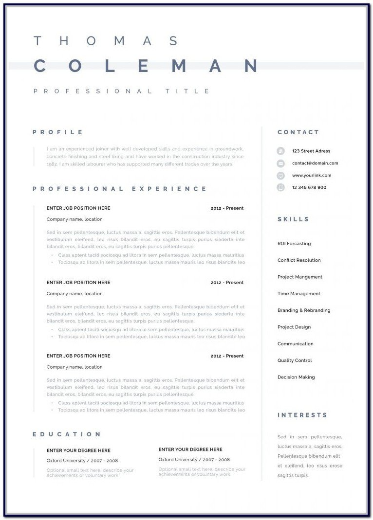 Textedit Resume Template Free Resume Templates for Mac Textedit Resume Resume