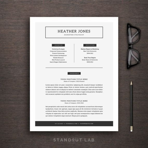 Textedit Resume Template Professionally Designed and Easy to Customize Two Page