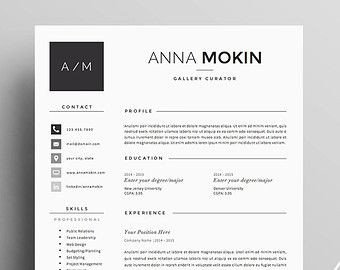 Textedit Resume Template Resume Template 5 Pages