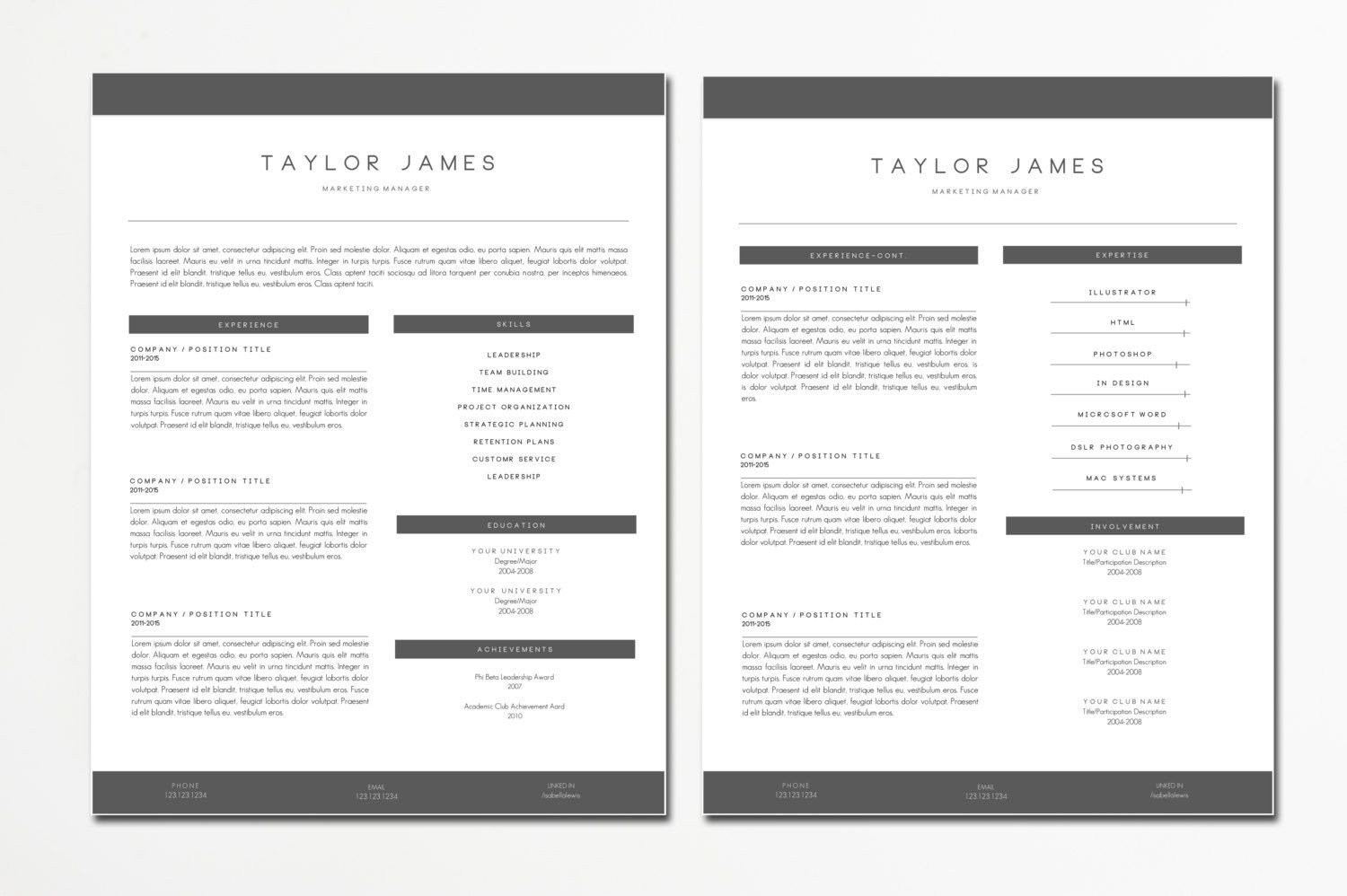 Textedit Resume Template Resume Templates and Cv Templates for Microsoft Word