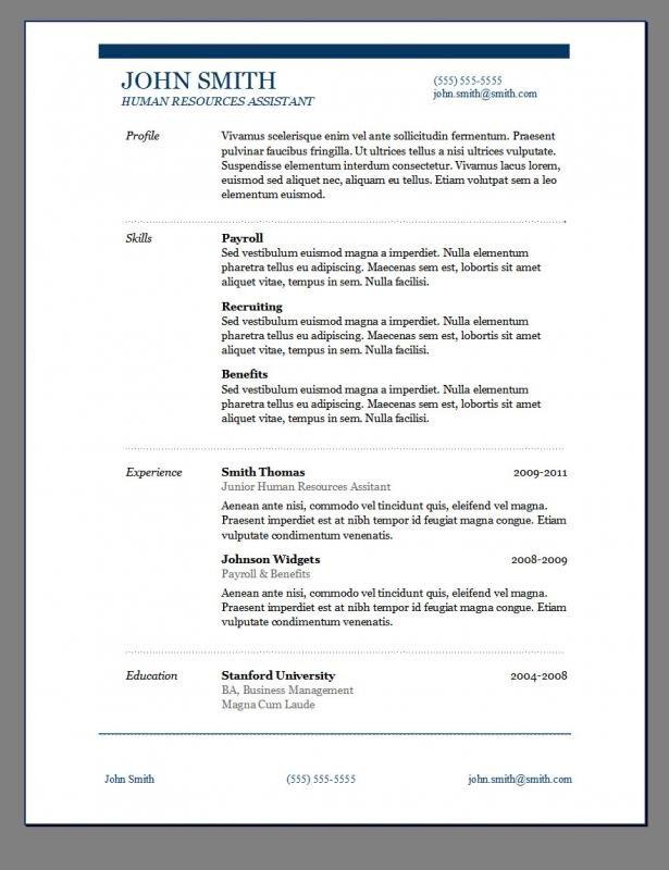 Textedit Resume Template Wordpad Resume Template