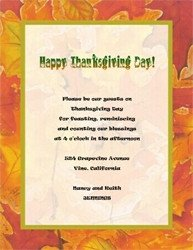 Thanksgiving Invitation Templates Free Word Fall Thanksgiving