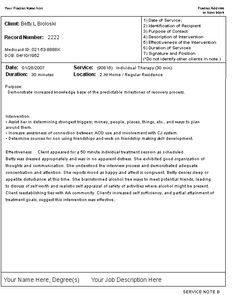 Therapist Progress Notes Template Dap Counseling Notes Template