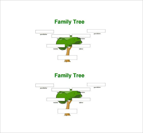 Three Generation Family Tree Template – 10 Free Word