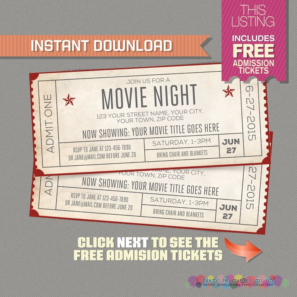 Ticket Invitation Template Free Blank Movie Ticket Invitation Template Free Download Aashe