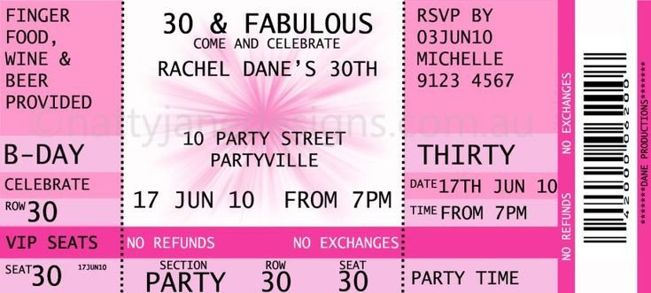 Ticket Invitation Template Free Concert Ticket Invitations Template Free