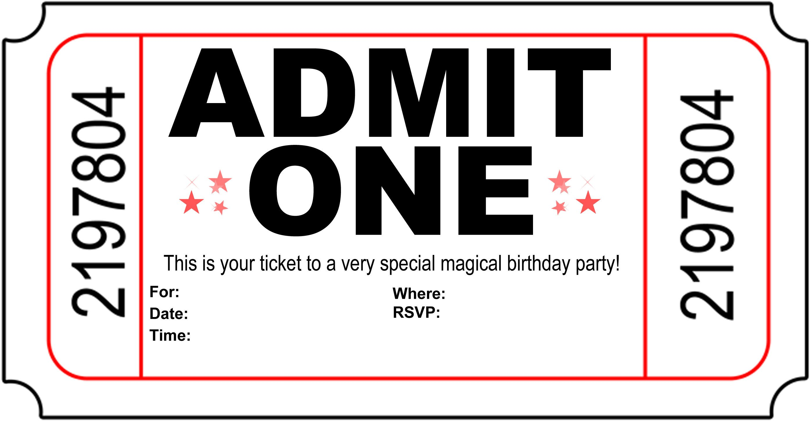 Ticket Invitation Template Free Free Carnival Ticket Invitation Template Download Free