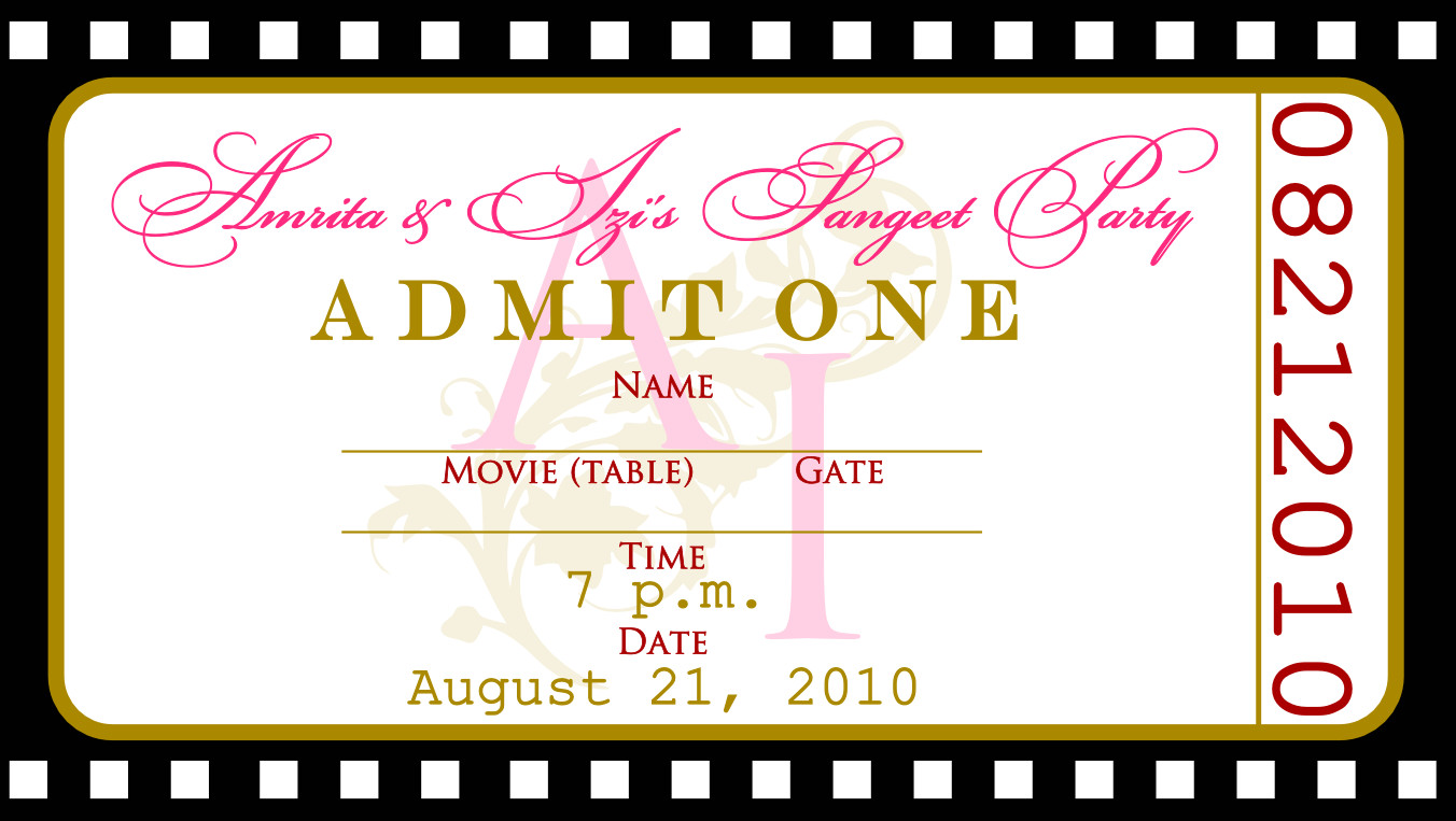 Ticket Invitation Template Free Free Templates for Birthday Invitations