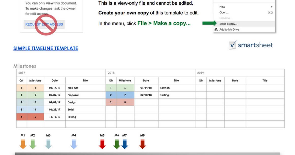 Timeline Template Google Docs Simple Timeline Template Google Doc Google Docs