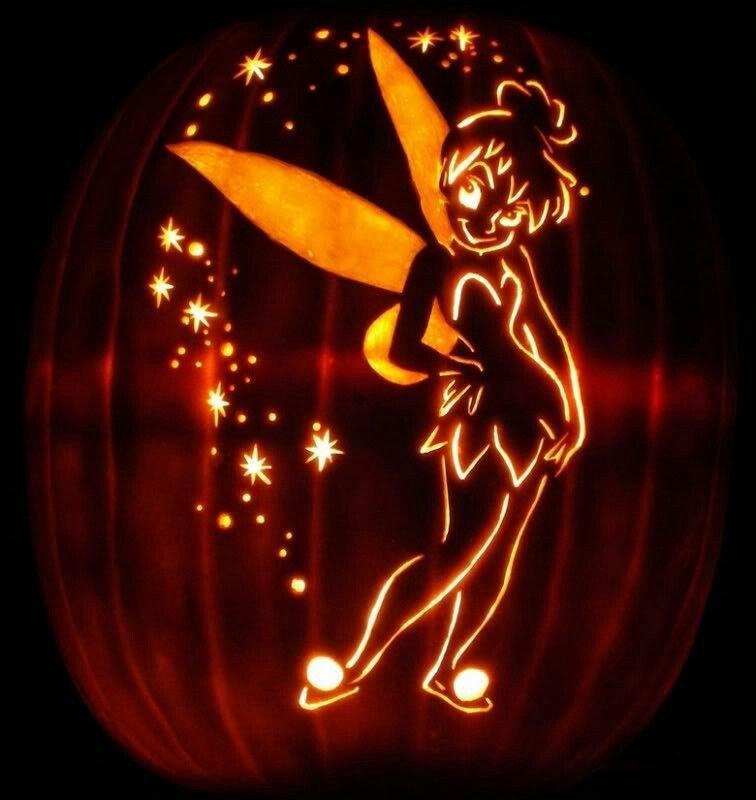 Tinkerbell Pumpkin Carving Templates Pin by Jennie Zarcufsky On Halloween