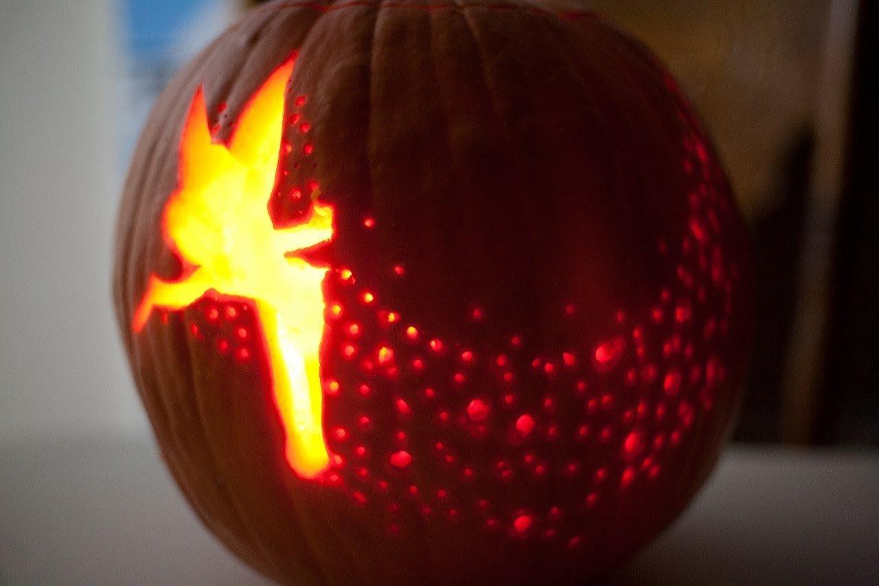 Tinkerbell Pumpkin Carving Templates Tinkerbell Pumpkin Template