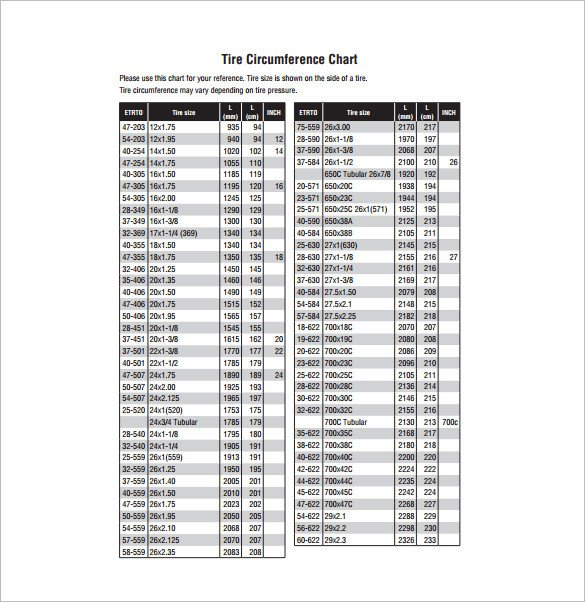 Tire Size Comparison Chart Template Parison Chart Template – 13 Free Sample Example