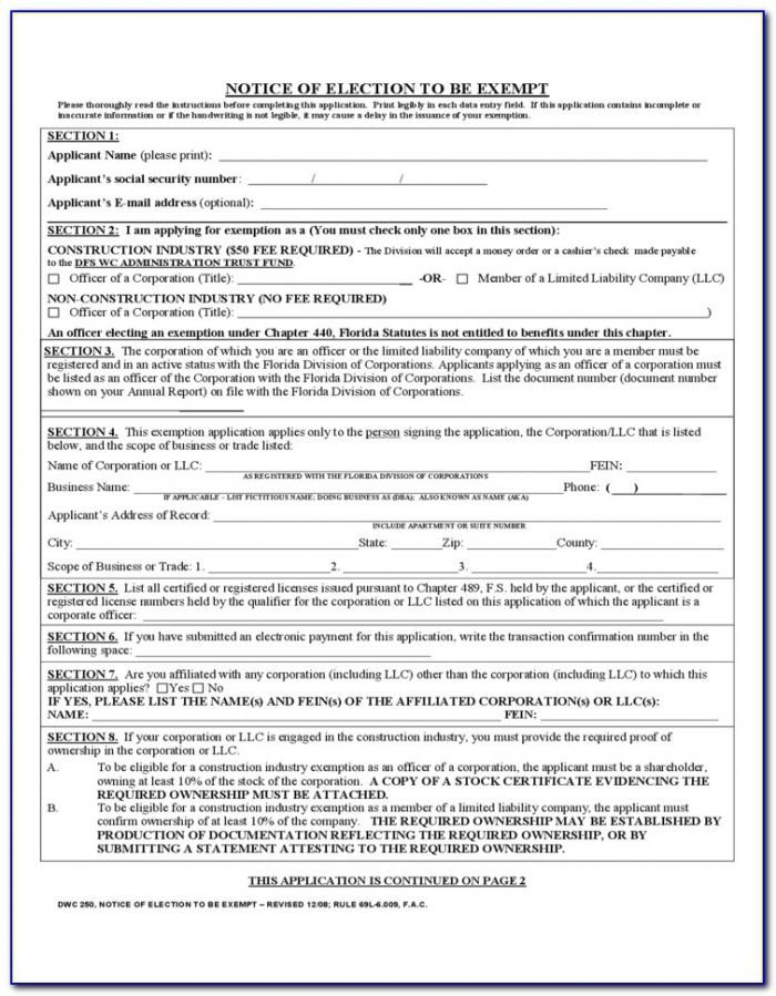 How To Fill Out Workers p Forms Form Resume