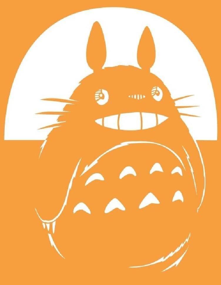 Totoro Stencil by VolkEverglory on DeviantArt