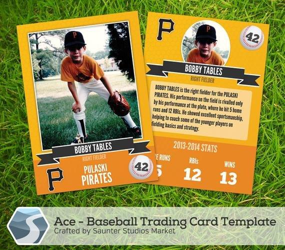 Trading Card Template Photoshop Ace Baseball Trading Card 2 5 X 3 5 Shop