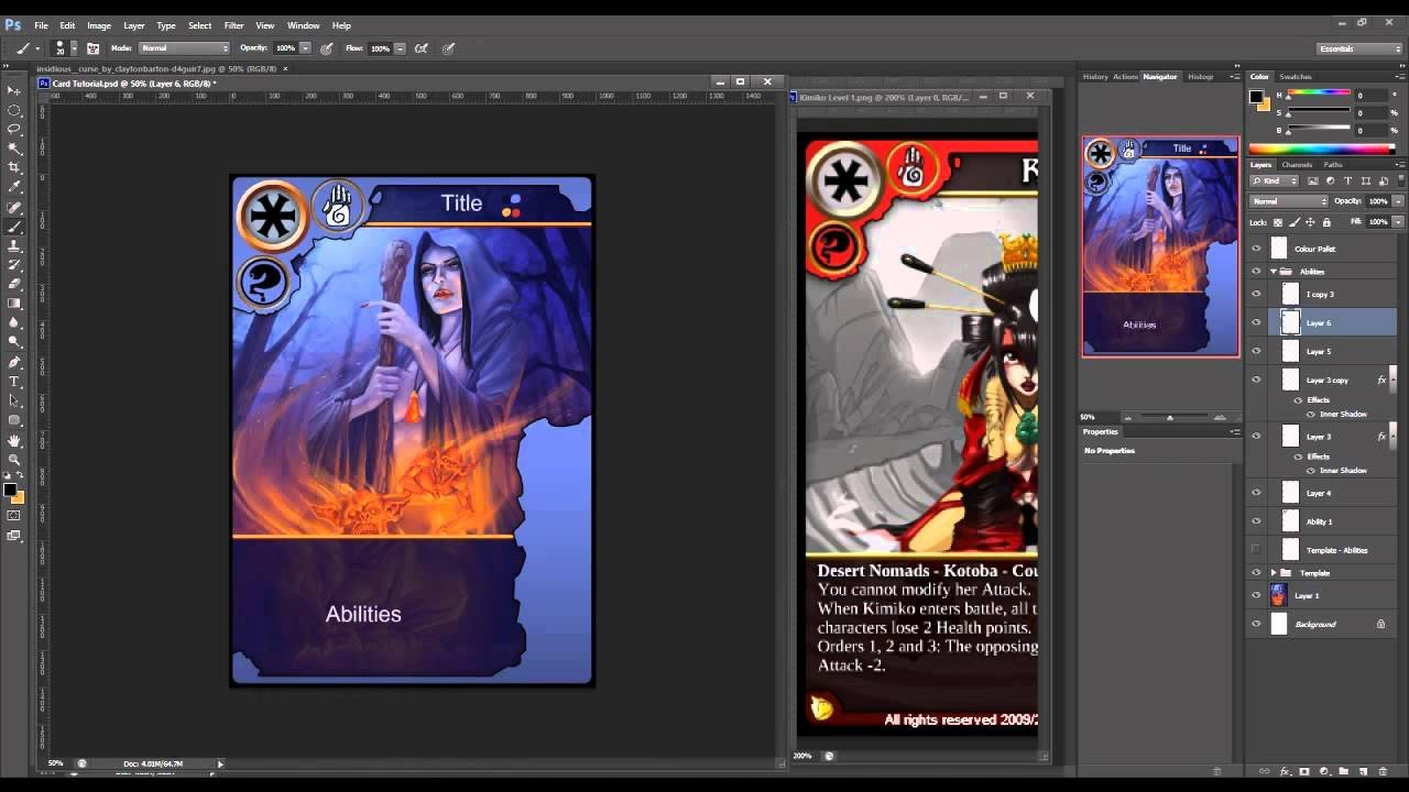 Trading Card Template Photoshop How to Create Trading Cards In Shop