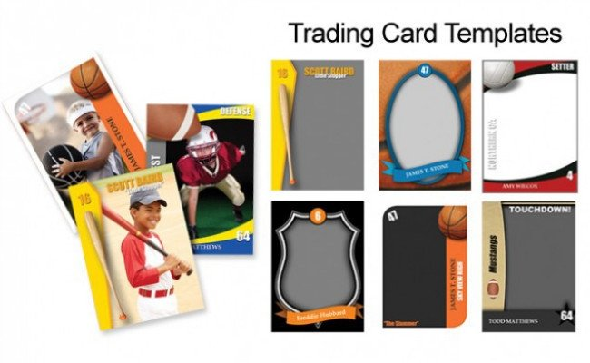 Trading Card Template Photoshop Trading Cards Shop Templates