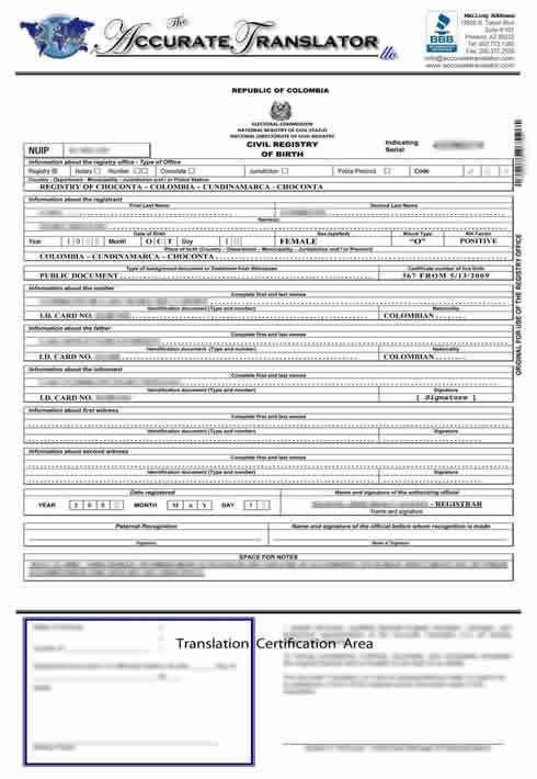 Translation Of Divorce Certificate Template Birth Certificate Translation Of Public Legal Documents