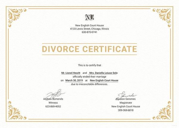 Translation Of Divorce Certificate Template Divorce Certificate Translation In Australia Naati