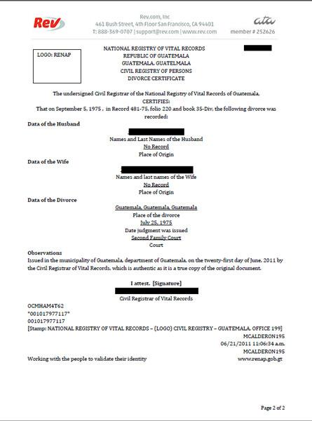 Translation Of Divorce Certificate Template Divorce Document Translation Service