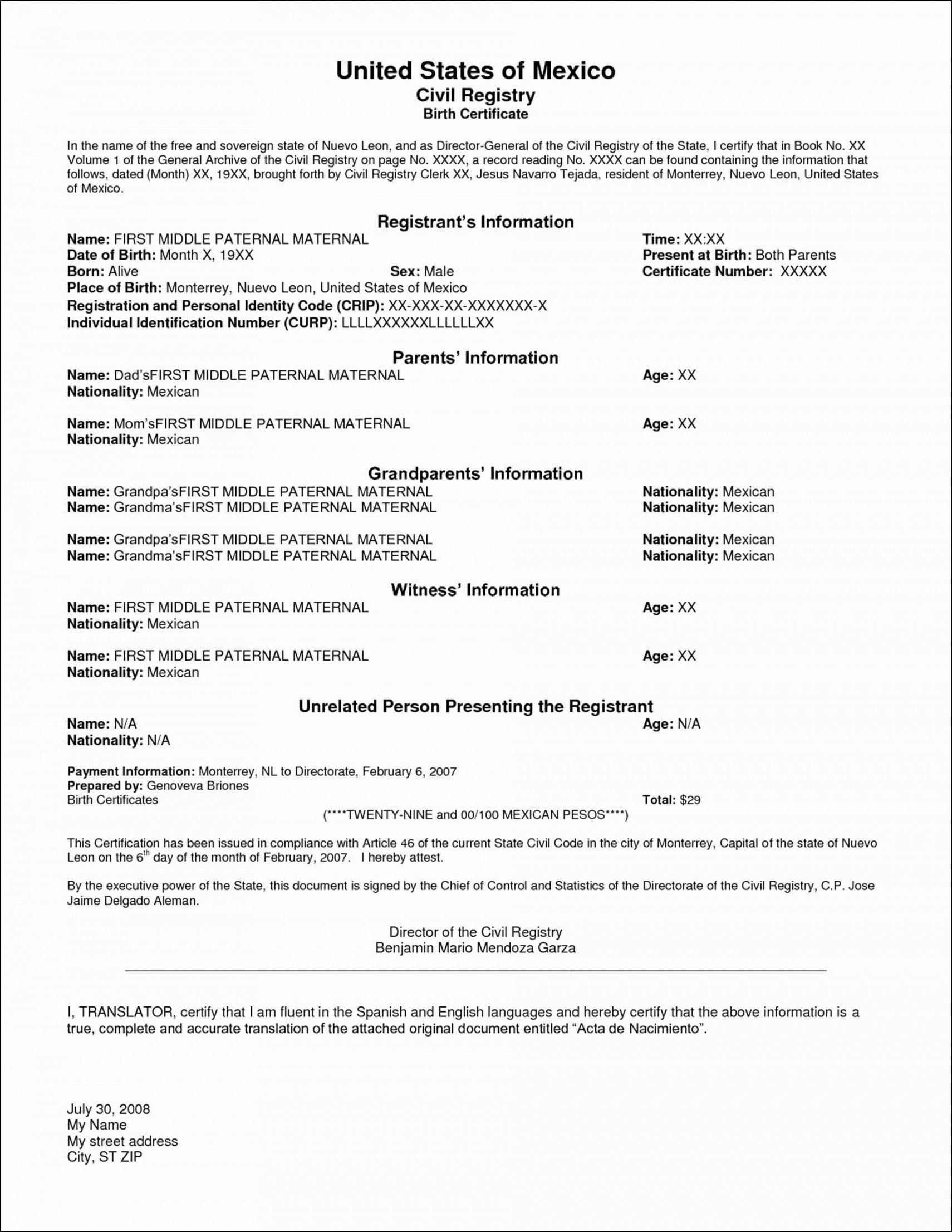 Translation Of Divorce Certificate Template Editable Translation Divorce Certificate Template