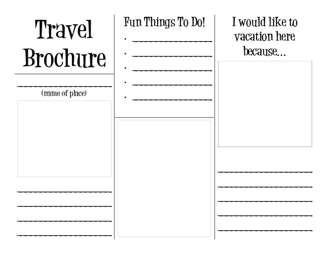 30 Travel Brochure Template For Students Simple Template