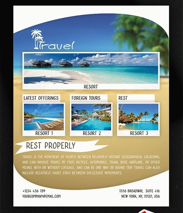 38 Attractive Travel Flyer Templates & Creatives Word