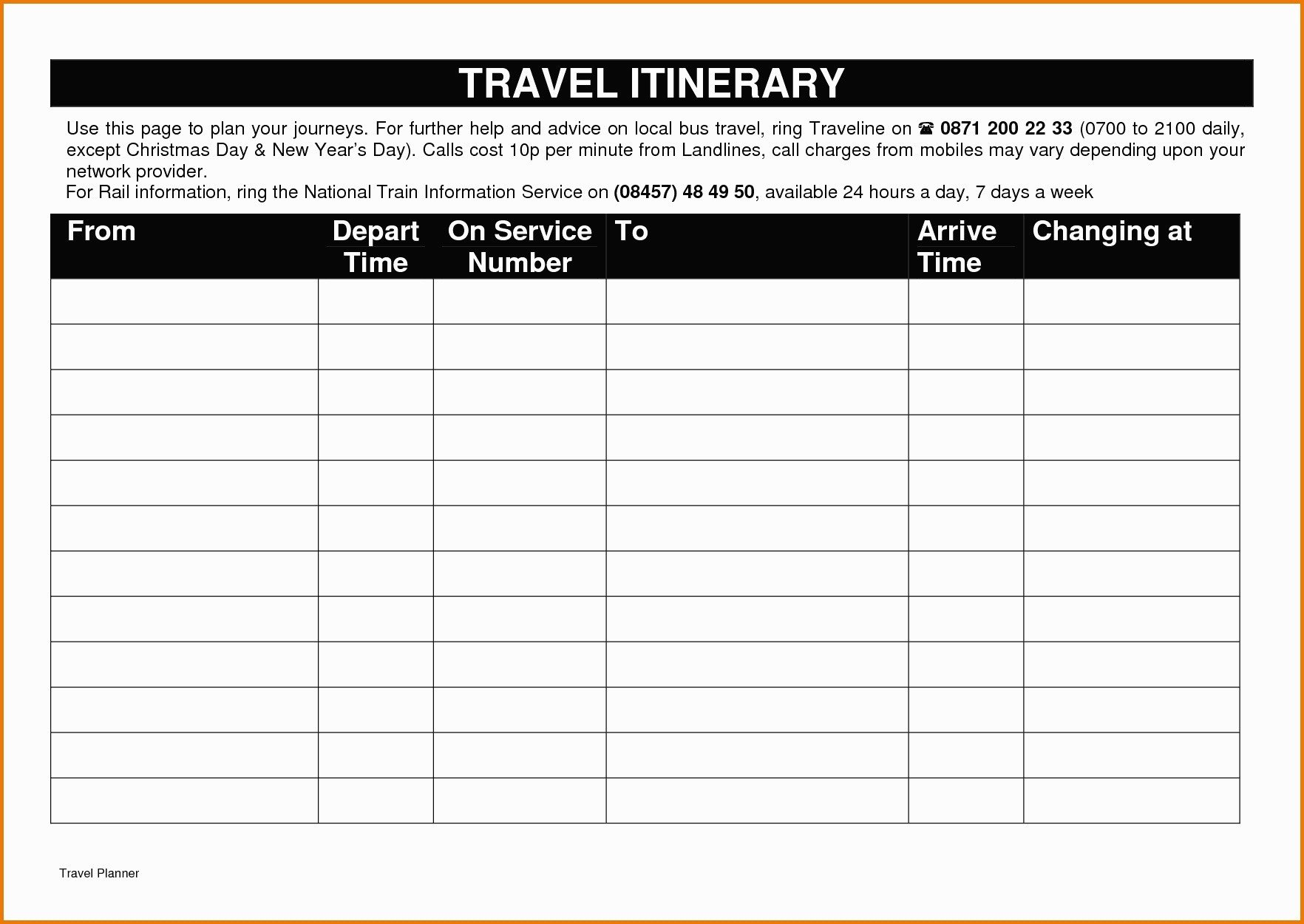 Travel Itinerary Template Google Docs Itinerary Template Google Docs Five Things Nobody told You