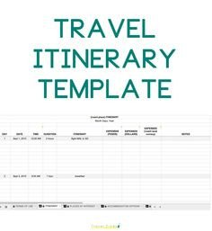 Travel Itinerary Template Google Docs Personal Travel Itinerary Template Google Search