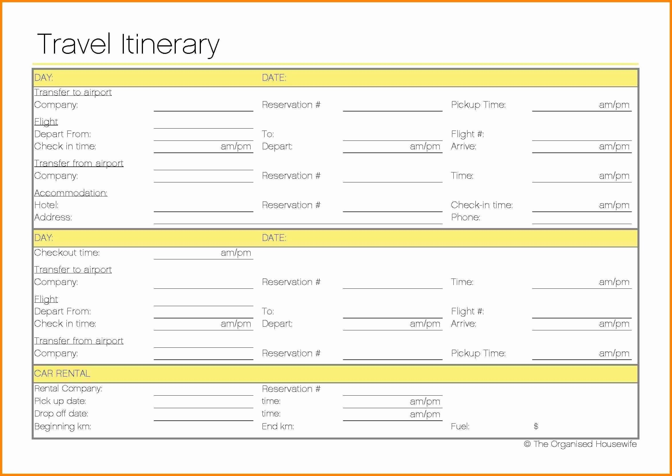 Travel Itinerary Template Google Docs Travel Itinerary Template Google Docs