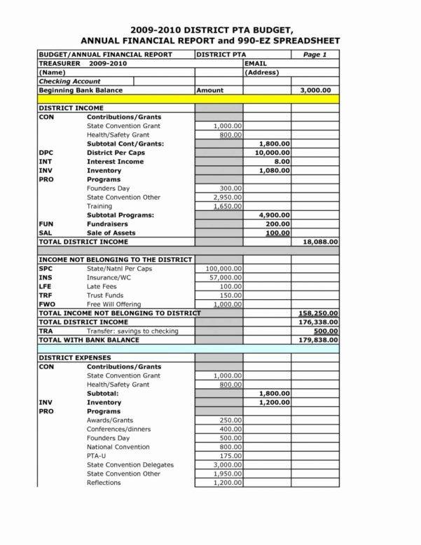 Treasurer Report Template Excel Treasurer S Report Excel Spreadsheet Google Spreadshee