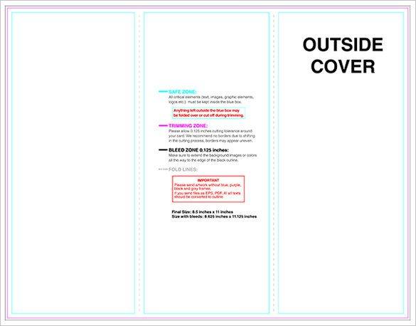 Tri Fold Brochure Template Illustrator 10 Printable Trifold Templates Doc Psd Pdf Eps