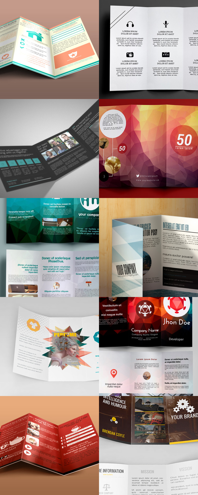 Tri Fold Brochure Template Illustrator 25 Editable Illustrator Tri Fold Brochure Templates bypeople