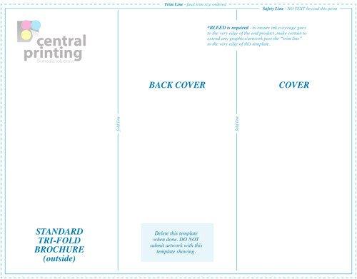 Tri Fold Brochure Template Illustrator Brochure Templates