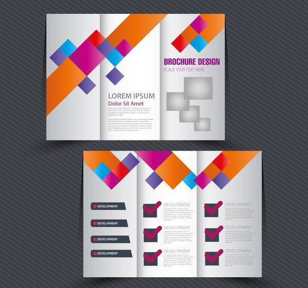 Tri Fold Brochure Template Illustrator Checklist Free Vector 36 Free Vector for