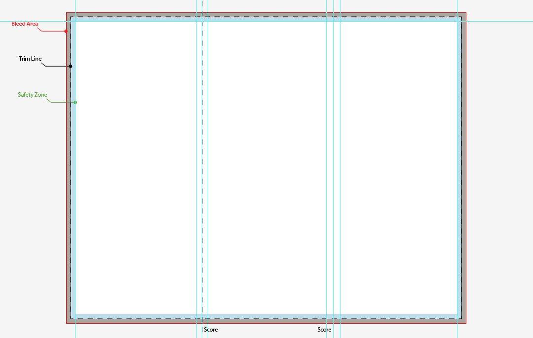 Tri Fold Brochure Template Illustrator Free Corporate Tri Fold Brochure Template Designbump