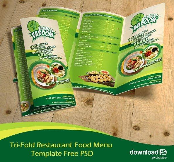 Tri Fold Menu Templates 16 Tri Fold Brochure Free Psd Templates Grab Edit & Print
