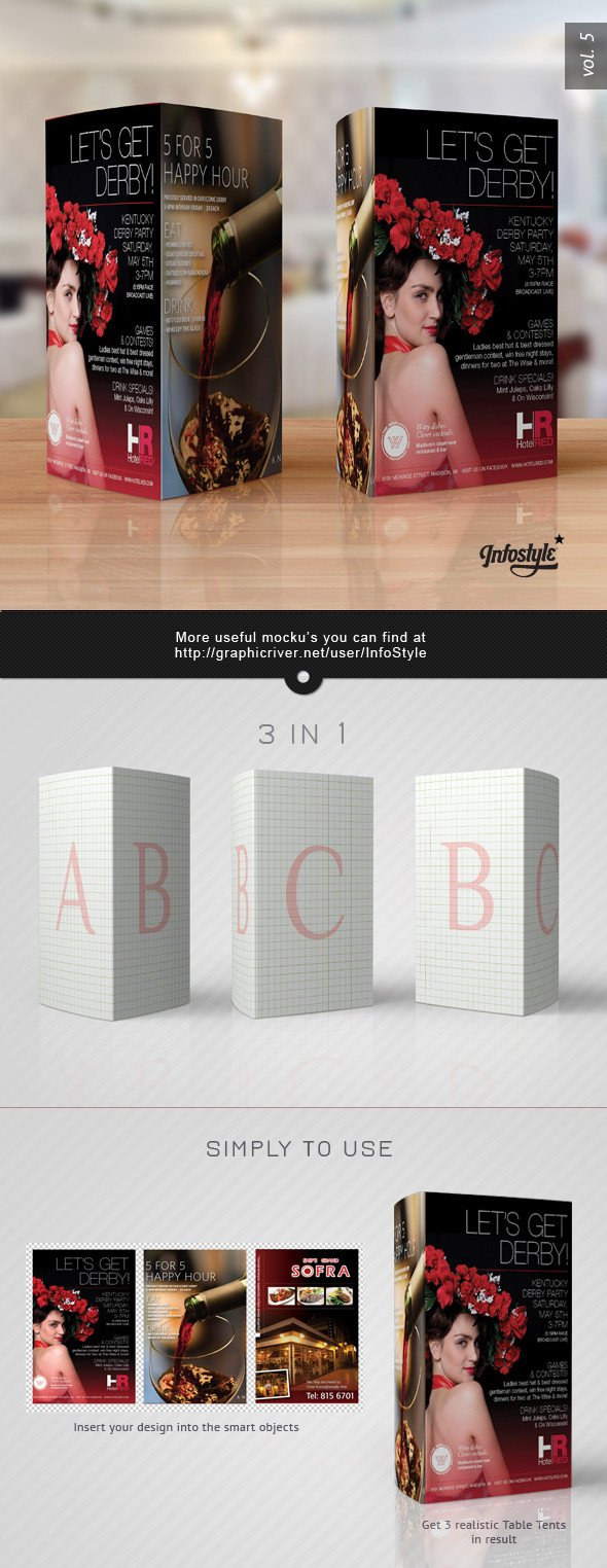 Tri Fold Table Tent Template Paper Tri Fold Table Tent Mock Up Template Vol 5 by