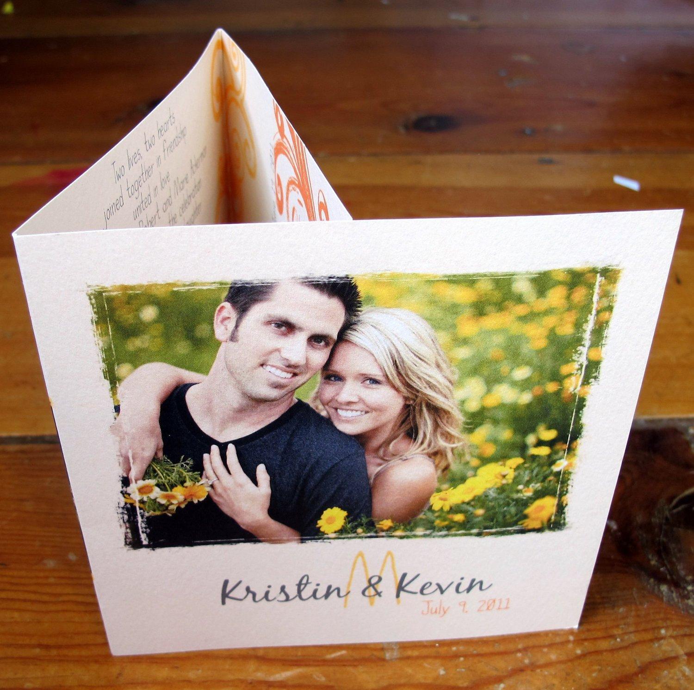 Tri Fold Wedding Invitation includes a by gwenmariedesigns