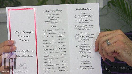 Tri Fold Wedding Program Template Foil Border Wedding Programs