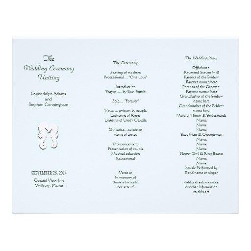 Tri Fold Wedding Program Template Sea Horse Tri Fold Wedding Program Template Letterhead