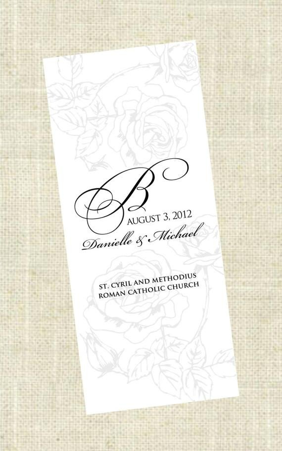 Tri Fold Wedding Program Template Tri Fold Printable Wedding Program