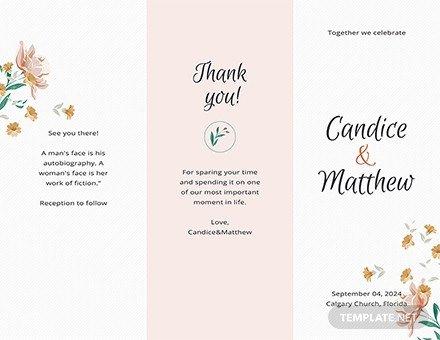 Trifold Wedding Program Template Free Tri Fold Wedding Program Template Download 30